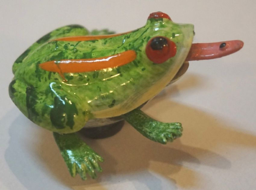 3D FROG FRIDGE MAGNET WITH WIGGLY LEGS & TONGUE IDEAL SHOPPING LIST/NOTE HOLDER